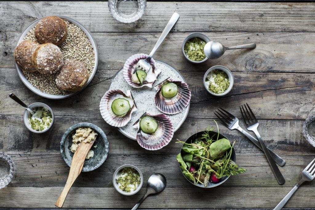 Køkkenet er primært nordisk med en forkærlighed for grøntsager og urter. Foto: Chris Tonnesen